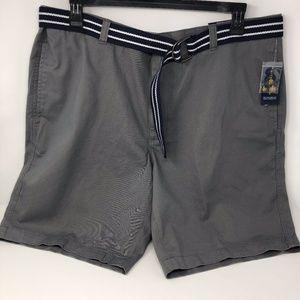 Club Room Mens Flat-Front Shorts Shark Gray
